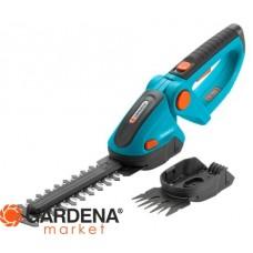 Комплект: Ножницы для газонов и кустарников аккумуляторные ComfortCut с 2 ножами (для травы - 8 см, для кустарника - 18 см) Gardena 08897-20.000.00