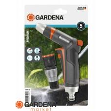 Комплект: Пистолет-наконечник для полива Premium + Коннектор с автостопом Premium Gardena 18306-20.000.00