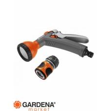 Комплект: Пистолет-распылитель для полива + Коннектор с автостопом 1/2 Gardena 18345-32.000.00