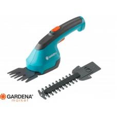 Комплект: Ножницы для газонов аккумуляторные AccuCut Li с 2 ножами (для травы - 8 см, для кустарников - 12 см) Gardena 09852-33.000.00