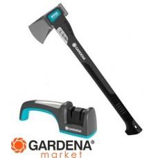 Комплект: Топор-колун малый 1600 A + Заточной комплект Gardena 08718-30.000.00